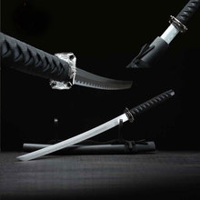 Japan Short Sword Samurai Katana Sword Carbon Steel Handmade Katana Alloy Tsuba Scrub Wood Scabbard Home Decor Beautiful Sword(China)