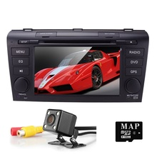7 inch Support USB SD with GPS Blue tooth FM/AM radio HD touch screen Windows CE 6.0 SPECIAL NEW for MAZDA3 -2009 Car DVD PLAYER