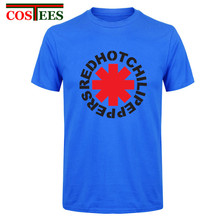 Cheap Rock T-shirts Heavy Metal Band Red Hot Chili Peppers Distress T shirt brand clothing men RHCP Tshirts fashion 2017 New Tee(China)