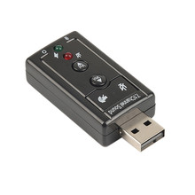 New Audio USB External Sound Card 7.1 Channel 3D Audio Adapter 12Mbps USB 2.0 Virtual External Sound Card
