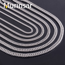 Width 4.5/6/6.6/7.5/9mm Men Stainless Steel Necklace Chain High Quality Link Chain Necklace Stainless Steel Jewelry Wholesale