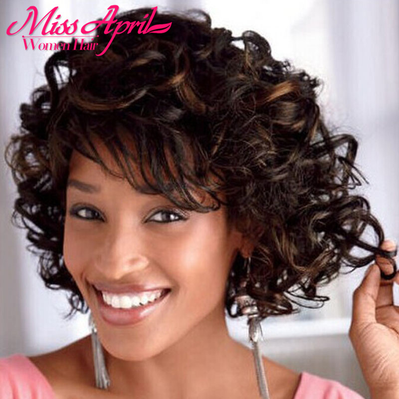 Hot sale Pelucas Fashion Short Wig Synthetic Wig Curly Brown Wig With Side Bangs For Women Melanie Martinez Pruiken Synthetische<br><br>Aliexpress