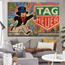 2017 Alec monopoly TAG HEUER art print canvas for wall art decoration oil painting wall painting picture No frame(China)