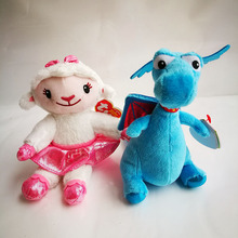 Hot Doc McStuffins Cartoon Toys Cute Mini Plush dolls Animals sheep/dragon stuffed Toy gift for children 15CM