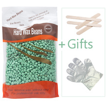 Beauty Tools 1 Bag 300g Hot Wax No Strip Hard Wax Pellet Waxing Bikini Hair Removal Bean Depilatory Tea Tree Flavor