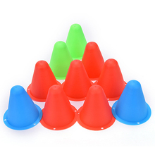 10 Pcs/lot Mark Cup Skateboard Football Soccer Rugby Speed Fitness Equipment Drill Space Marker Cones Slalom for Roller Skating(China)