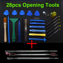 28 in 1 Opening Tools Repair Tools Phone Disassemble Tools set Kit For iPhone iPad HTC Cell Phone Tablet PC(China)