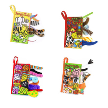 Kids Cloth Book Toys 3D Animal Tail Infant Reborn Baby Early Development Learning Educational Unfolding Activity Books LF023