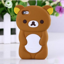 For iphone 5s Case Coque 3D Cute Easy Brown Bear Cover For iPhone 5s 5 SE 4 4s Silicone Phone Cases High Quality Capa 5s Fundas