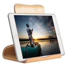 Hot sale Ultra Light Wooden Tablet Computer Holder Stand Support for iPad for Samsung for kinds of tablets Fe18