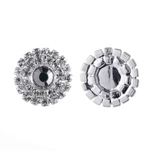 10Pcs/pack 20MM rhinestones Buttons Full Diy Flat Back Craft Making Hair Accessories Wedding Invitation Card Decoration(China)