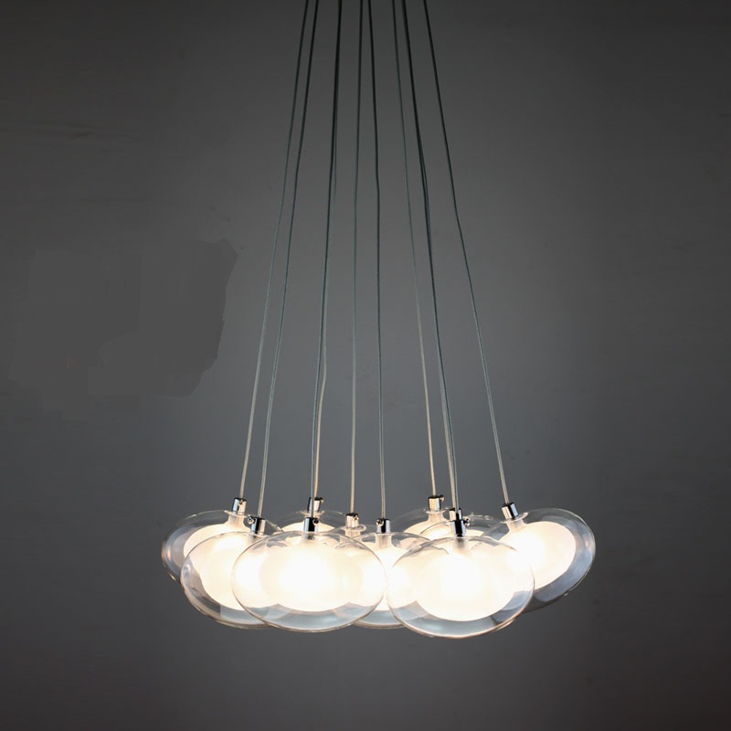 Egg in egg pendant lights modern minimalist fashion A1 creative art concept light restaurant small retest stairs LED lamp ZA<br>