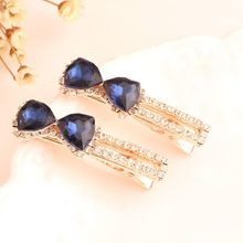 Buy 1Pair Korean Women Girls Crystal Rhinestone Hair Clips Butterfly Barrette Hairpins Hairband Clamp Hair Accessories for $1.10 in AliExpress store