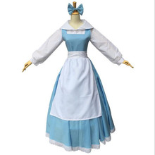 belle blue dress halloween women costume beauty and the beast adult princess adults southern dresses sale costumes(China)