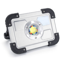 Safurance 30W LED Portable Rechargeable Flood Light Spot Work Outdoor Lawn Lamp Roadway Safety Traffic Light(China)