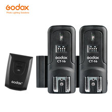 Godox CT-16 16 Channels Wireless Radio Flash Trigger Transmitter + 2x Receiver Set for Canon Nikon Pentax Studio Flash(China)