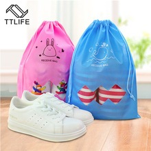 TTLIFE Shoes Storage Organizer Non-wave Fabric Basket bag travel Handbag Necessities items Accessories Supplies Product(China)
