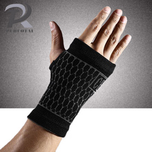 2017 New Black Wrist Support Nylon Spandex Gym Glove/ Sweatband Wrist Weight Lifting/ Fitness/ Tennis Sport Wrist Protector(China)