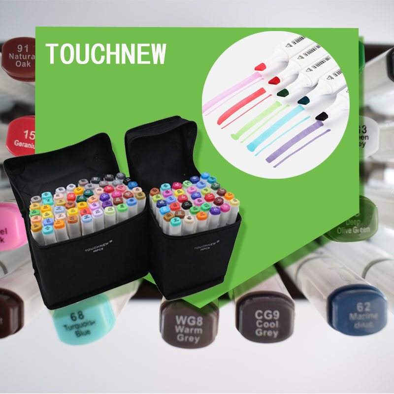 Touchnew 60 Colors Art Marker artistic sketch Copic markers Double Tips  alcohol based  Professional Drawing Painting<br>