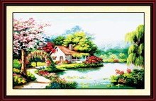 Love plantation cross stitch kit spring season 18ct 14ct 11ct count printed canvas stitching embroidery DIY handmade needlework(China)