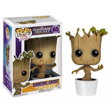 Marvel Guardians of the Galaxy Groot FUNKO POP Wacky Wobbler Shake Bobble Head Tree Toy PVC Action Figure Free shipping