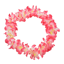 Wedding Supplies Party Beach Tropical Flower Necklace Hawaiian Luau Petal Leis Festival Party Decorations 1PC(China)