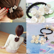 New Sale Hair Jewelry Girls Tiara Headband Two Shell Flower Bridal Hair Accessories Elastic Hair Band Wedding Hair Band