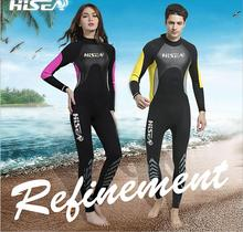 2017 2.5mm Neoprene Wetsuit Men Women Spearfishing Wet Suit Diving Swimwear Lovers Swimsuit Long Sleeve Thermal Girls Boys