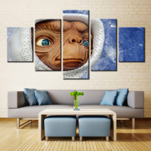 E.T. the Extra-Terrestrial Famous Movie Poster Oil Painting on Canvas Waterproof Cool Home Decorations Customized & Wholesale