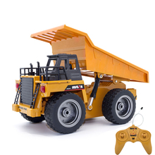 RC Alloy engineering truck Super power RC car model Dump trucks Beach toys Children's adult toys Boys toys birthday Xmas gifts(China)