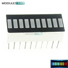 10PCS LED Display Module 10 Segment Bargraph Light Display Module Bar Graph Ultra Bright Red Yellow Green Blue Color Multi-color