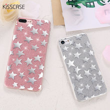 KISSCASE Glitter Case For Apple iPhone 6 6S 7 7 Plus Case Cute Pretty Stars Ultra Thin Soft Silicon Back Shell For iphone 6 Case