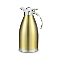 2L Thicken Stainless Steel Thermo Jug Heat Kettle Vacuum Insulated Coffee Pot High-quality kettle Noble color Family big size