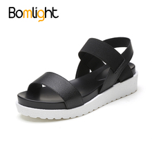 Bomlight 2017 Gladiator Women Sandals Summer Women Shoes Flat Shoes Roma Sandals Mujer Sandalias Ladies Flip Flops Sandal(China)