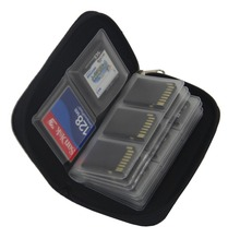 High Quality Colorful SDHC MMC CF For Memory Card Storage bag Carrying Pouch Box Holder Protector for Memory card Micro SD Card