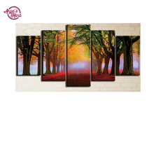 ANGEL'S HAND 100% Full DIY 5D Diamond Painting red Tree 5 pcs Cross Stitch Diamond Embroidery Patterns rhinestones 3d Diamond