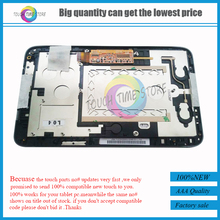 "For Lenovo A2107 A2207 7"" Tablet Full Touch Screen Digitizer Glass + LCD Display Panel Assembly+ Frame Bezel Housing Replacement"