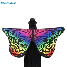 New Butterfly Wings Shawl Women Beach Cover Up Dress Sarong Beach suit Bathing Suit Beach tunic Cover-Ups Pareo Beachwear Febr08(China)