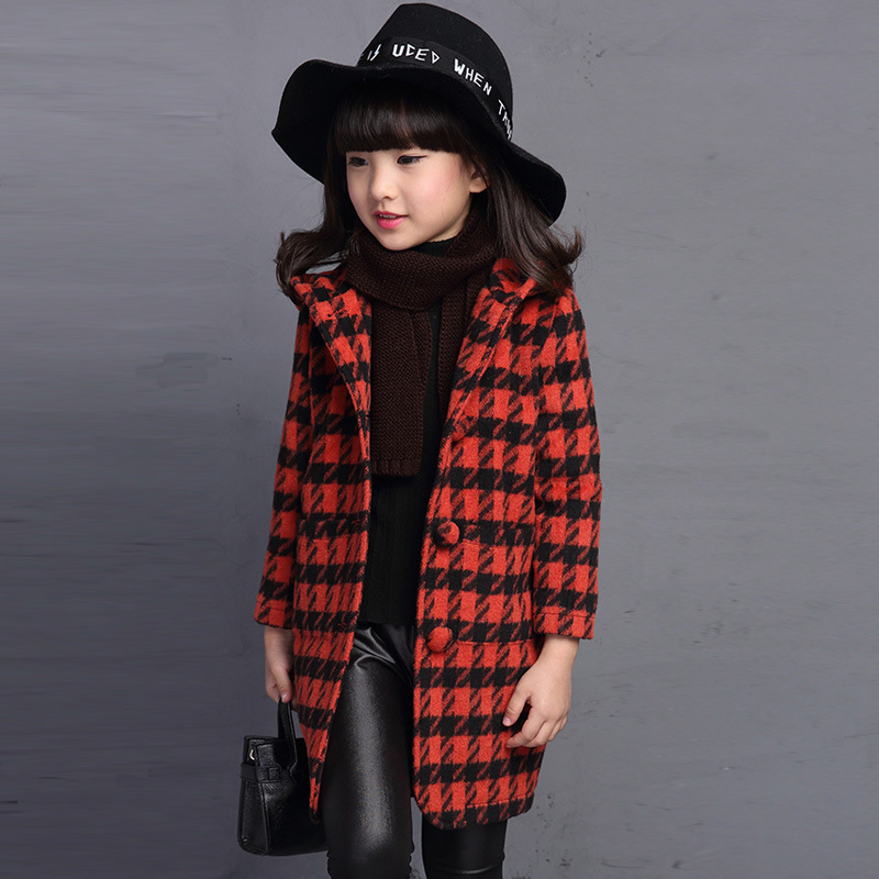 2017 Autumn Toddler Girl Coats Clothes Plaid Kids Jacket Turn-down Collar Long Sleeve Single Breasted Fashion Kids Plaid CoatОдежда и ак�е��уары<br><br><br>Aliexpress