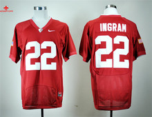Nike Alabama Crimson Tide Mark Ingram 22 College Limited Ice Hockey Jerseys - Crimson Size M,L,XL,2XL,3XL(China)