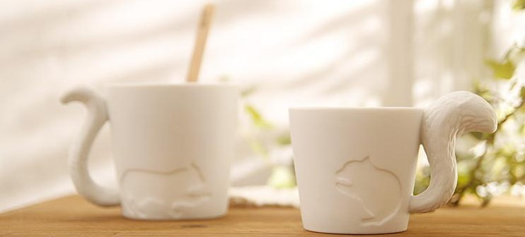 Free Shipping+Cute kinto animal cup frosted ceramic candlestick&mug,36pcs/lot(China (Mainland))