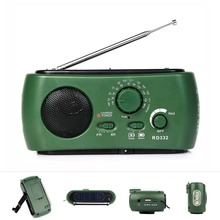 FM AM Radio Solar Crank Radio Multiband Powered Dynamo Generator Flashlight Emergency Charger Radio Receiver Y4343G