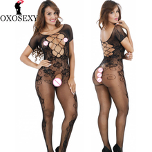 Buy OXOSEXY Hollow women sexy lingerie hot Open Crotch bodyStockings mesh Fishnet short sleeve erotic Lingerie sexy costumes 334