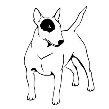 Car stying 10.3cm*14.5cm Automobile modeling ethylene English bull terrier dog fashion car window stickers Jdm