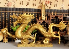 christmas Chinese Brass Statue sculpture halloween Dragon statue