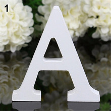 Creative Thick Wooden Letters Alphabet Wedding Birthday Home Decorations Decoration Craft Home Birthday Party Events Supplies(China)