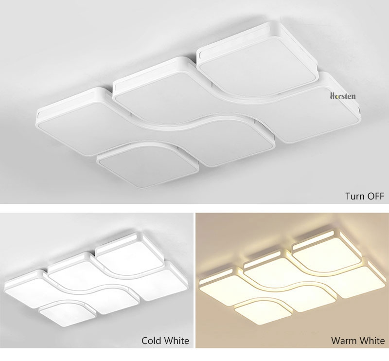 Modern Simple Acrylic LED Ceiling Lights Minimalist Rectangular Ceiling Lamp With Romote Control For Living Room Bedroom 220V (10)