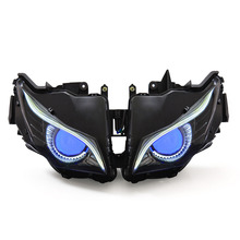 KT Headlight for Honda CBR1000RR 2012-2016 LED Eagle Eye Blue Demon Eye Motorcycle HID Projector Assembly 2013 2014 2015(China)