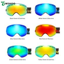 Children Kid Skiing Snowboarding Skating Goggles UV Protection Anti-fog Wide Spherical PC Lens Anti-slip Strap Helmet Compatible