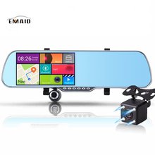 EMAID 5.0 inch Android Car DVR Mirror Bluetooth Rearview Mirror GPS Navigator Car Camera Video Recorder Full HD 1080P